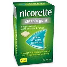 NICORETTE CLASSIC GUM 4MG 105 SZTUK