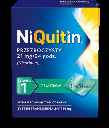 NIQUITIN PLASTRY 21MG/24H 7 PLASTRÓW